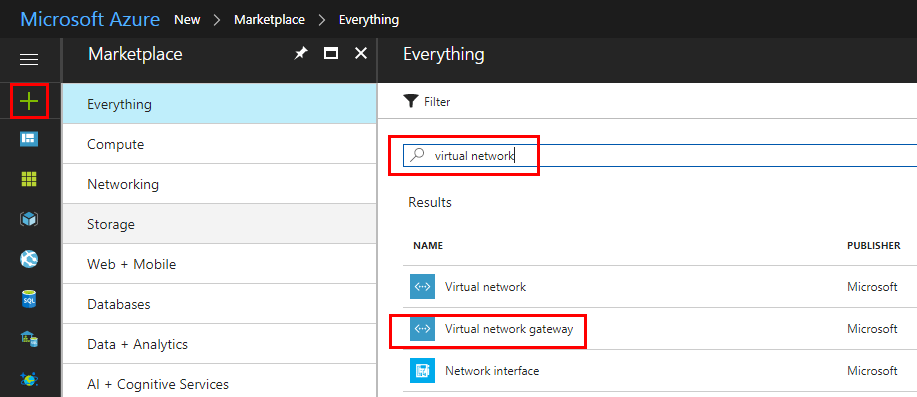 Search-for-Azure-Virtual-Network-Gateway-in-Marketplace Configure Meraki to Azure Site to Site VPN