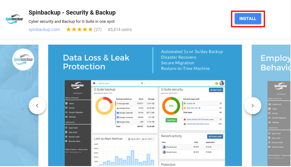Spinbackup-G-Suite-Marketplace-Install Spinbackup G Suite Security and Backup Installation