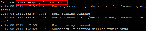 Stop-vmware-vpxd-vCenter-process