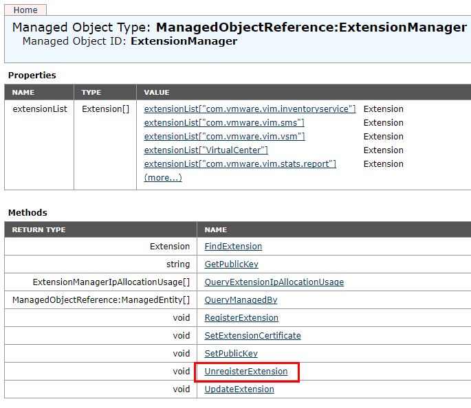 Unregister-VMware-vCenter-Extension Managing Disabling Deleting VMware vCenter Server Plugins