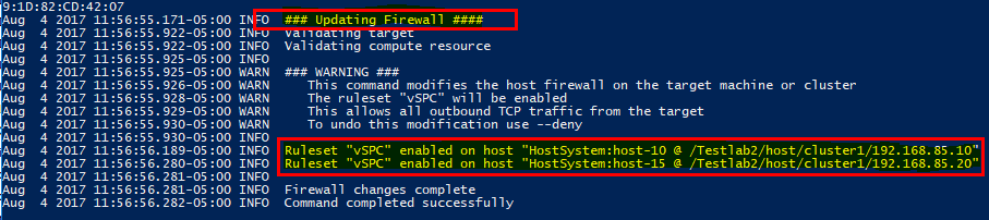 Using-vic-machine-to-update-ESXi-firewall-settings Configuring VMware vSphere Integrated Containers