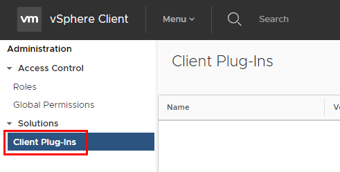 VMware-vCenter-HTML-5-interface-client-plugins Managing Disabling Deleting VMware vCenter Server Plugins