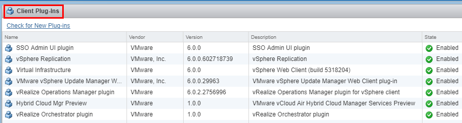 VMware-vCenter-Server-client-plugins Managing Disabling Deleting VMware vCenter Server Plugins
