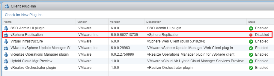 vSphere-vCenter-client-plugin-disabled Managing Disabling Deleting VMware vCenter Server Plugins