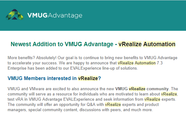 vmugvra02 VMUG Advantage adds vRealize Automation 7.3 Enterprise