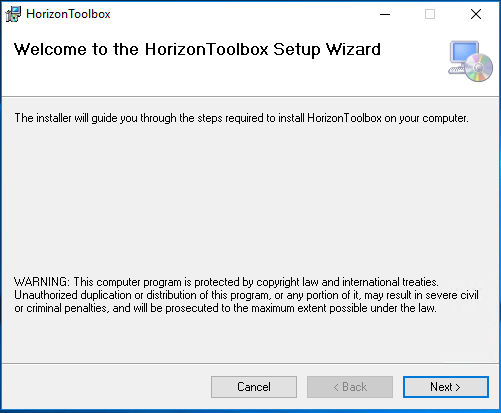 Begin-the-VMware-Horizon-Toolbox-Fling-Install VMware Horizon Toolbox Fling Installation