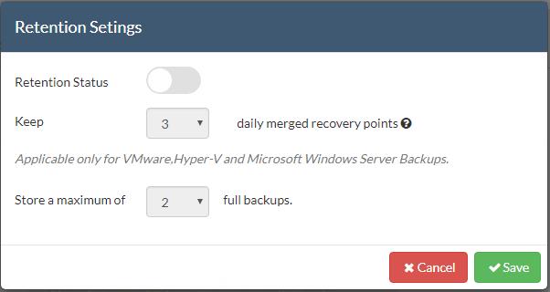 Configure-Vembu-CloudDR-Retention-settings