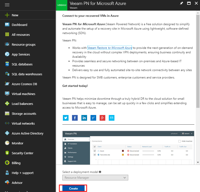 Find-the-Veeam-PN-appliane-in-Azure-marketplace Veeam Powered Network Overview and Installation