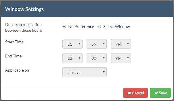 Set-CloudDR-Replication-Hours