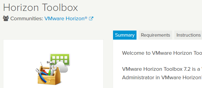VMware-Horizon-View-Fling-download VMware Horizon Toolbox Fling Installation