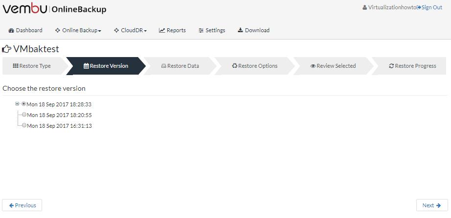 Vembu-Online-Backup-CloudDR-restore-versions