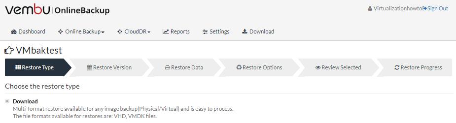 Vembu-Online-Backup-CloudDR-restore