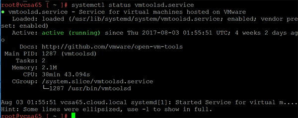 VMware VCSA 6 5 Photon OS configuration and commands