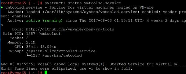 vcsaphot01 VMware VCSA 6.5 Photon OS configuration and commands