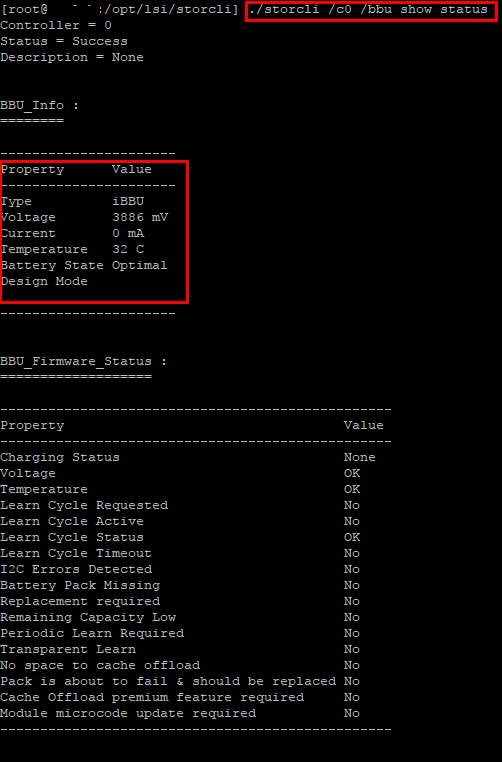 Change BBU and RAID Cache Settings with Avago LSI StorCLI