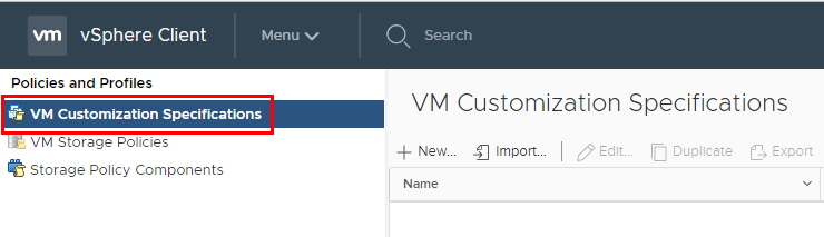 Create-VM-Customization-Specification Using VMware vSphere VM Customization Specification