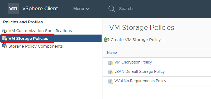 Create-a-New-VM-Storage-Policy Using VMware VM Storage Policies
