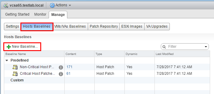 Create-an-upgrade-baseline-using-the-customized-ISO Upgrade Dell VMware ESXi 6.0 Cluster to 6.5 U1 with VUM
