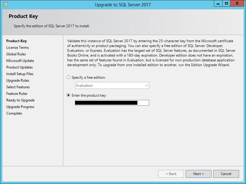 sql server 2017 standard product key