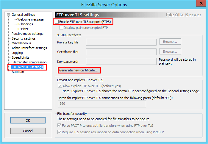 Create Secure FTPS server for VMware VCSA 6 5 Backups