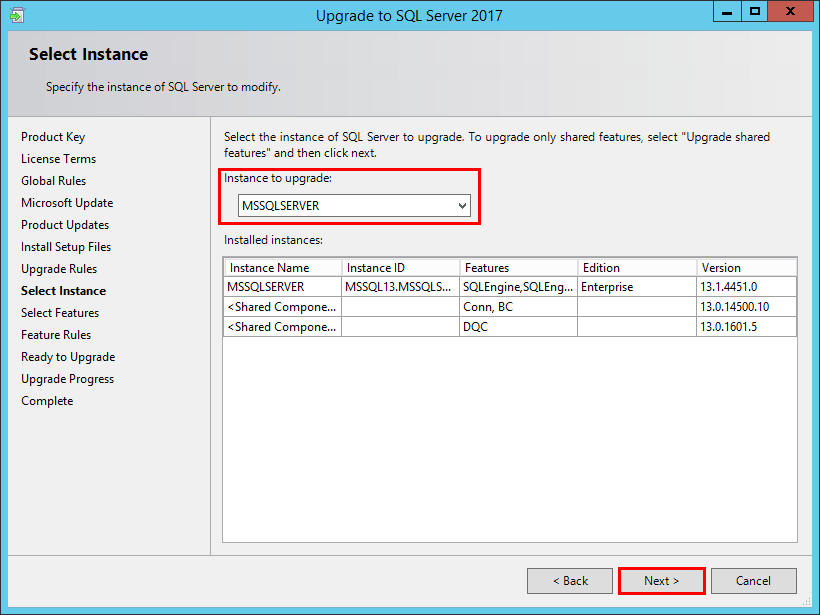 Upgrade SQL Server 2016 to 2017 - Virtualization Howto
