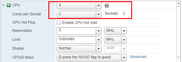 High-Performance-VMware-VM-CPU-cores-allocated Create High Performance VMware VMs Checklist
