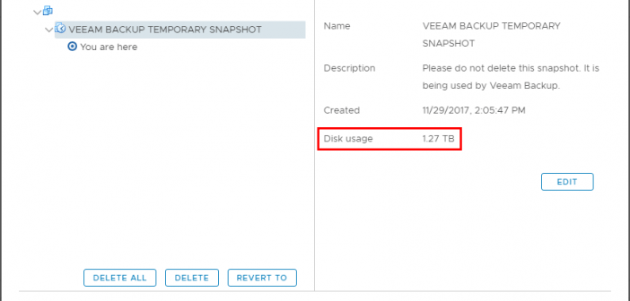 Check for Orphaned Veeam Temporary Snapshots