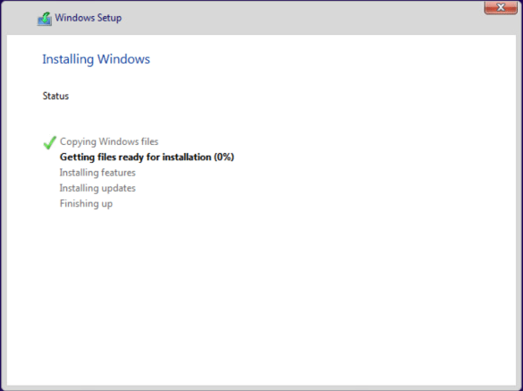 Windows-10-installation-progress-begins Installing Windows 10 Pro for Workstations