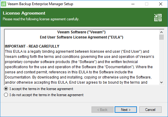 Accepting-the-Veeam-Backup-Enterprise-Manager-EULA Monitor Veeam Backups with Veeam Backup Enterprise Manager