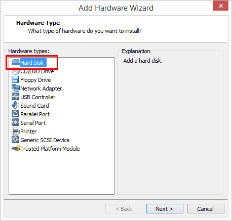 Choose-to-Add-a-Hard-Disk Change Boot Drive to NVMe Storage Controller in VMware Workstation 14