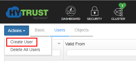 Create-a-User-account-in-Hytrust-to-establish-trust-with-vCenter-Server Hytrust VMware Virtual Machine Encryption