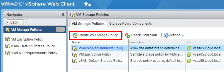 Create-a-new-VM-Storage-Policy-for-use-with-SIOC Setup and Configure VMware vSphere 6.5 Storage I/O Control