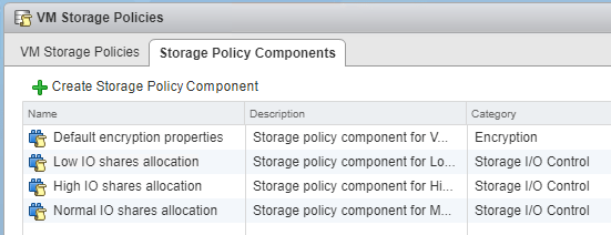 Default-VM-Storage-Policy-components Setup and Configure VMware vSphere 6.5 Storage I/O Control