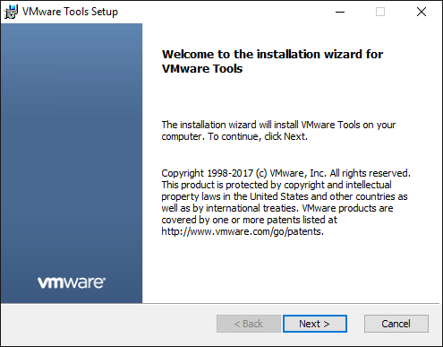 In-the-virtual-machine-guest-the-VMware-Tools-update-begins Change Boot Drive to NVMe Storage Controller in VMware Workstation 14