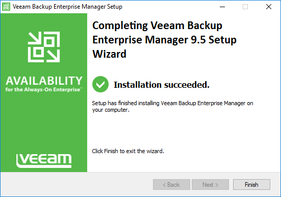 Installation-of-Veeam-Backup-Enterprise-Server-is-successful Monitor Veeam Backups with Veeam Backup Enterprise Manager