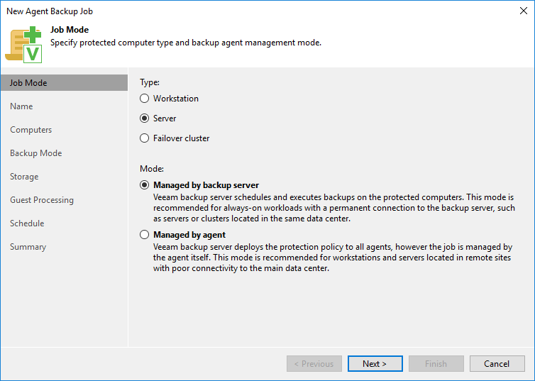 New-agent-backup-job-from-Update-3 Veeam Backup and Replication 9.5 Update 3 Released New Features