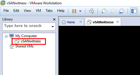 After-importing-the-VMware-vSAN-Witness-Appliance-we-power-it-on Install and Configure VMware vSAN Witness Appliance in VMware Workstation