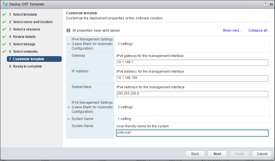Dell EMC UnityVSA storage appliance installation and configuration