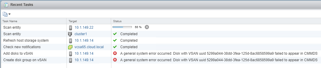 Disk-with-VSAN-uuid-failed-to-appear-in-CMMDS Configure vSAN Error Disk with VSAN uuid failed to appear in CMMDS