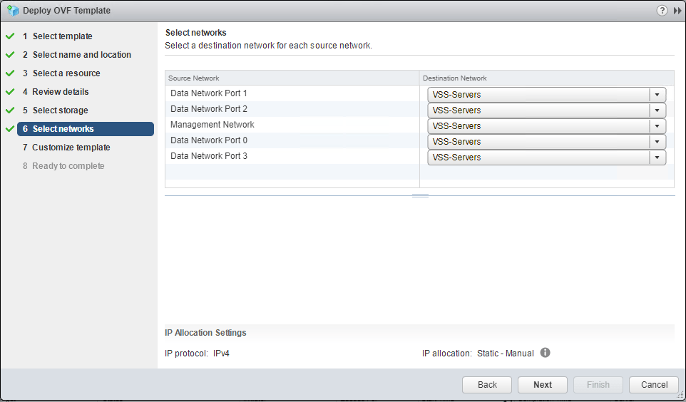 Select-Dell-EMC-UnityVSA-appliance-network-configuration