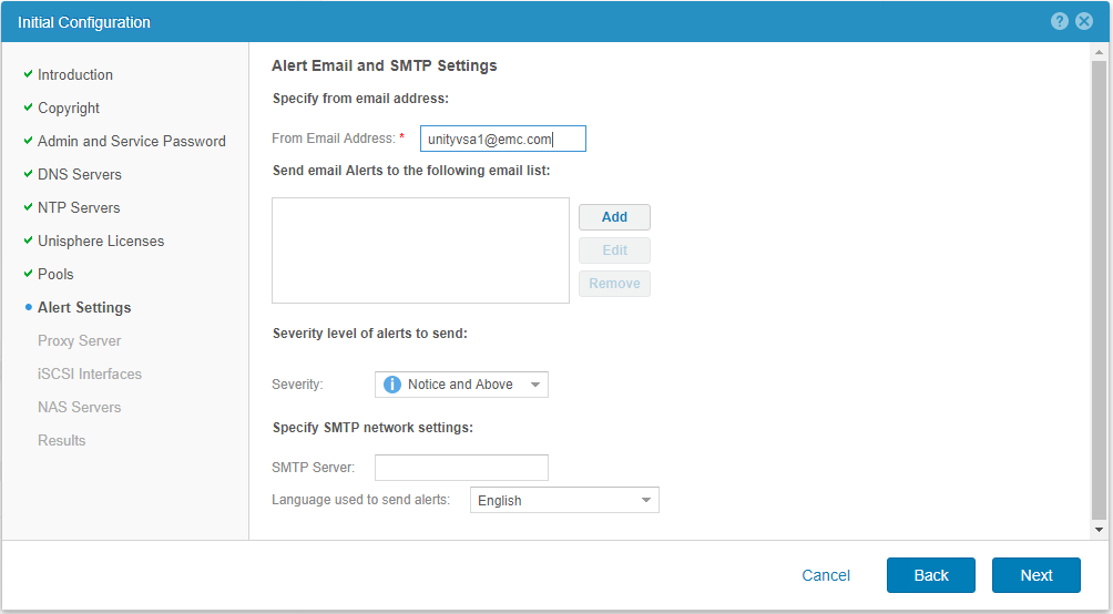 Setting-up-EMC-UnityVSA-SMTP-and-alert-settings