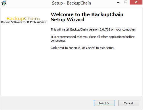 The-BackupChain-installer-begins Perform Live Backups of VMware Workstation Virtual Machines