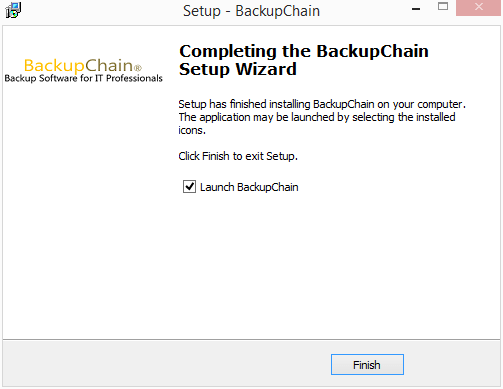 The-BackupChain-installer-finishes Perform Live Backups of VMware Workstation Virtual Machines