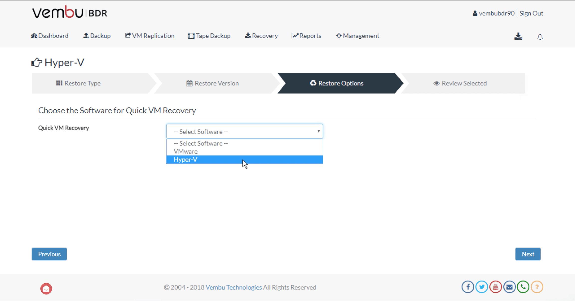 Vembu-BDR-Suite-v3.9.0-allows-Hyper-V-virtual-machine-quick-restores-to-ESXi-hosts