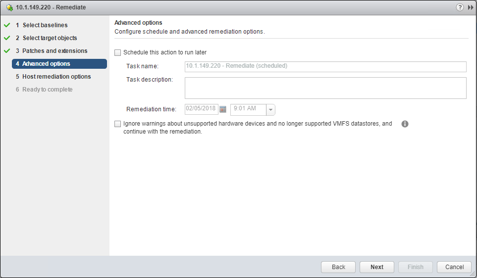 Choose-any-advanced-options-for-the-update Update VMware vSAN Witness Appliance