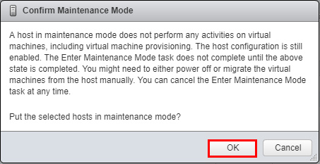 Confirm-placing-the-VMware-vSAN-Witness-host-in-maintenance-mode Update VMware vSAN Witness Appliance