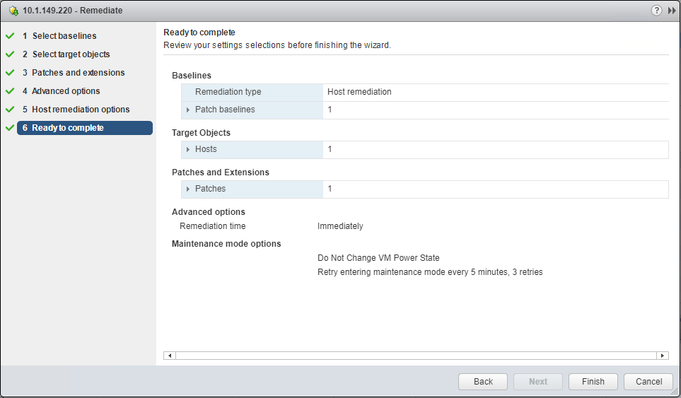 Finalize-the-VMware-vSAN-Witness-host-update-options Update VMware vSAN Witness Appliance