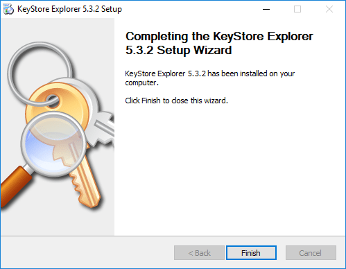 Keystore-Explorer-installation-finishes Easy Way to Replace or Install Apache Tomcat SSL Certificate