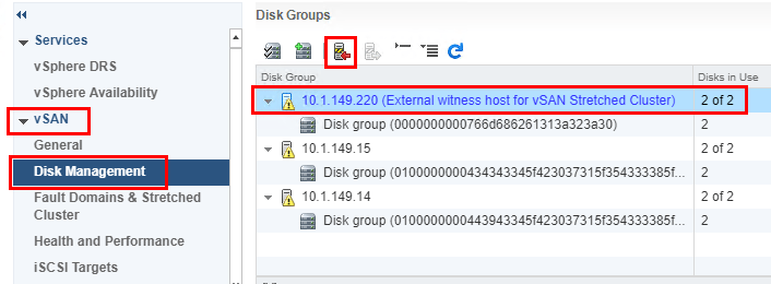 Placing-the-VMware-vSAN-Witness-host-in-maintenance-mode Update VMware vSAN Witness Appliance