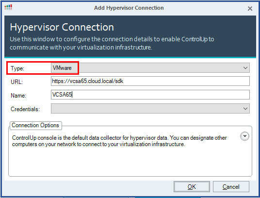 Select-VMware-as-the-Hypervisor-type-and-connection-URL ControlUp VMware Performance and Health Monitoring